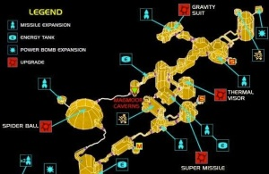 Map of Phendrana Drifts (Metroid Prime)