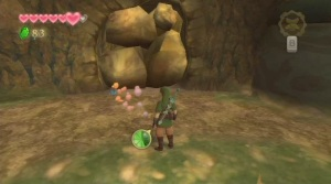 This wall cannot be passed unless you have a bomb (Twilight Princess)